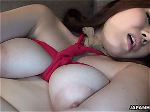 chinese buxomy honey tied up to be plaything poked