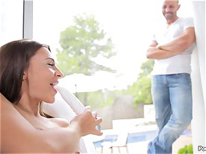 Alexis Brill caught draining penetrates her stud