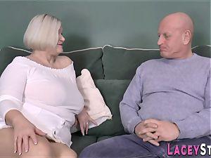 boob banging brit granny