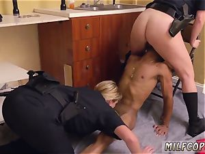 splendid mexican milf and vintage youthfull black male squatting in home gets our mummy officers