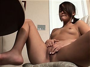 Meggan Powers plays with her raw snatch after getting buzzed