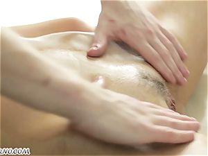 marvelous Russian chick gets an unbelievable deep-tissue massage