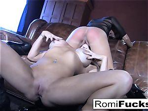 Romi Rain molten girl-on-girl intercourse