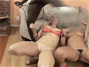 Charley pursue and Adrianna Nicole engulfs this thick pipe