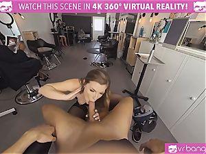 VRBangers.com Hairdresser Ella drilled hard and facial