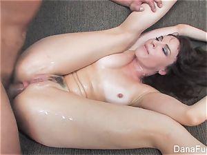 Dana DeArmond gets an anal invasion fuckin' on the sofa