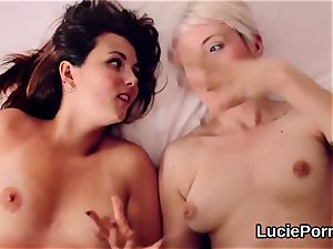 Apprentice girly-girl cuties get their narrow cootchies gobbled and reamed