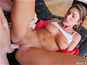 OMFG! I saw my sister August Ames fingerblasting her beaver, and I want to plow her