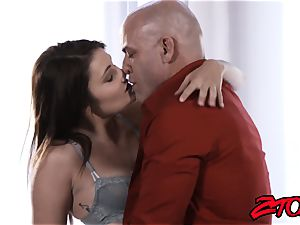 Stepdaughter Adria Rae pounded and licking jizz flow