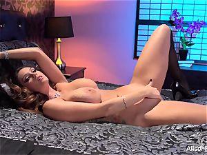 Alison Tyler posing bare in sofa