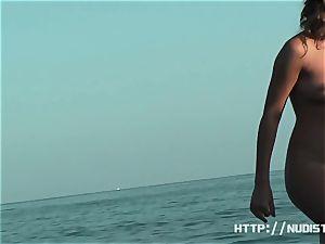 An great spy cam nude beach voyeur flick