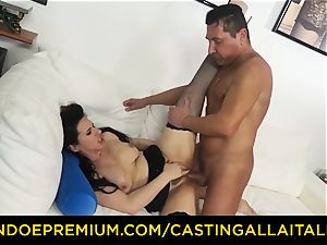 audition ALLA ITALIANA brunette nymphomaniac raunchy assfuck fuckfest