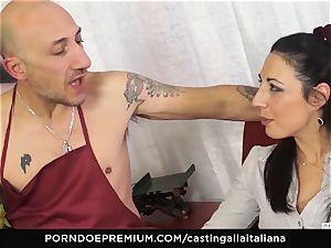 audition ALLA ITALIANA - Italian mummy new-cummer enjoys buttfuck