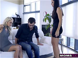 mother fucks sonnie And gobbles internal ejaculation For Thanksgiving treat