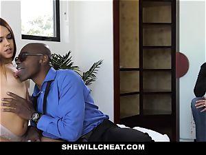 ShewillCheat - stunning wifey penetrates big black cock