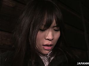 bizarre asian teenager degustating weenie for the very first time
