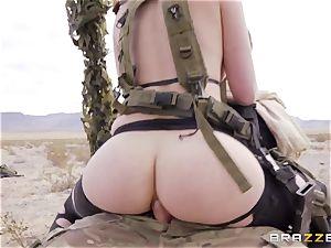 metal Gear Solid 5 anal porno parody with kinky brunette Casey Calvert