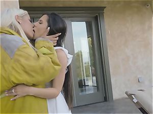 releasing some steam with scorching lesbians Bridgette B and Milana May