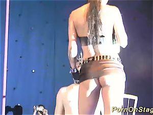 extreme fetish flash on stage