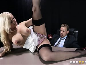 messy boss is given a screwable buttfuck fantasy by Britney Amber