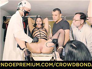 CROWD bondage subjugated Amirah Adara first time sadism & masochism