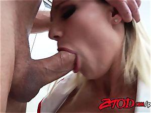 buxom Nurse Cali Carter pulverizes a immense man-meat