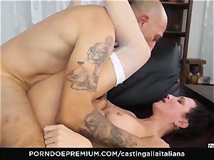 casting ALLA ITALIANA - newcummer anal gape and fuck