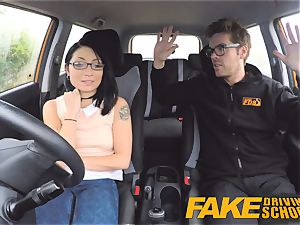 faux Driving college horny rail for diminutive british asian