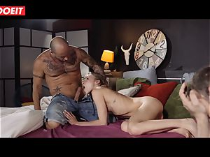 spectacular nubile wife Angel Emily pays hubby debt with fuck-a-thon
