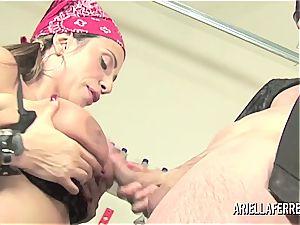 Biker hump with Ariella Ferrera