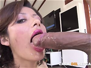 CarneDelMercado - Pickup and poke with dark-haired Latina