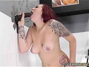 Amber Ivy tries big black cock anal invasion - Gloryhole