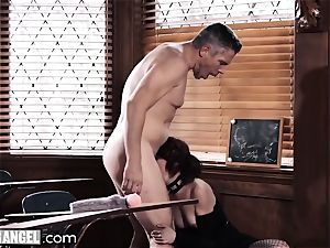 goth jerking In Detention is anally punished