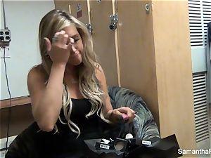 Behind the episodes with ash-blonde pornstar Samantha Saint
