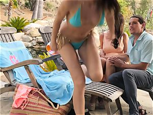 The Getaway Pt 3 showcasing sexy lesbos Dillion Harper and Charlotte Stokely