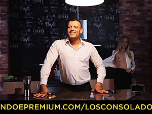 LOS CONSOLADORES - Hungarian blond gets pounded pov