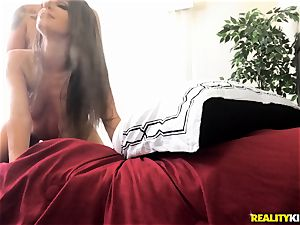 Kimmy Granger ragged all over the couch