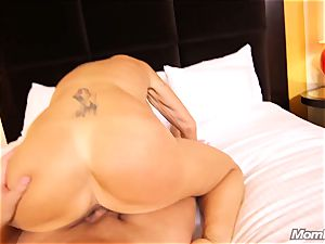 huge-chested Russian GILF bursts all over spunk-pump