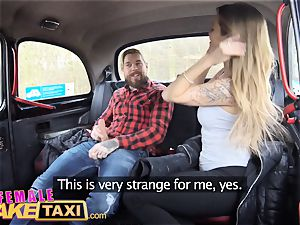 gal faux cab sumptuous Englishman pays in jism