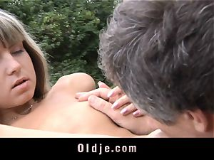 aged anal invasion injection for tiny cock-squeezing rump