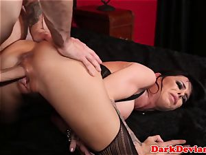 huge-boobed deepthroater gets electro treatment