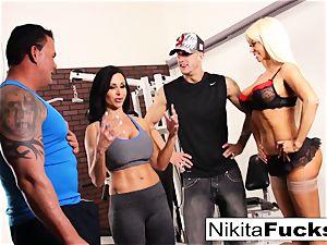 Nikita Von James joins a exercise sex