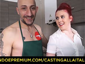 casting ALLA ITALIANA - hard-core rectal lovemaking with amateur