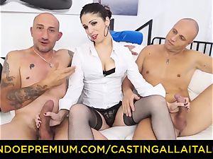 casting ALLA ITALIANA - scorching mummy has dual ass-fuck joy