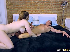 Lucia love romping two folks at different times