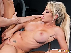 Capri Cavanni finishes her workout with some humungous rod