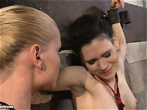 Kathia Nobili tantalizing a wild school chick