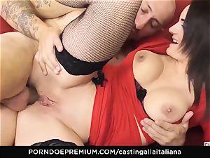 audition ALLA ITALIANA - buxomy brunette likes humid assfuck