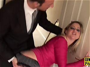 brit victim whore Leah ass-fucked