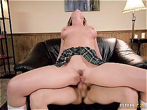 horny schoolgirl Blair Williams gets her butt hole destroyed